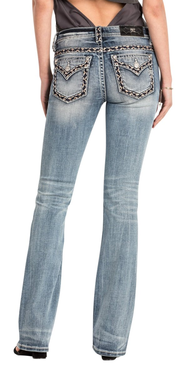 Miss Me Midnight Hour Mid-Rise Womens Bootcut Jeans-Available in Extended Sizes 32,33,34 (32)