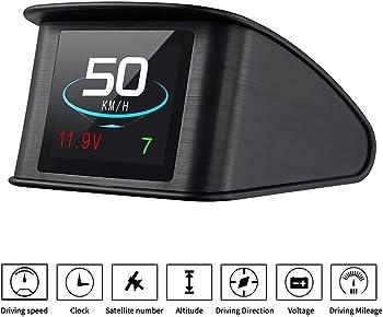TIMPROVE T600 Universal Car HUD Head Up Display Digital GPS Speedometer