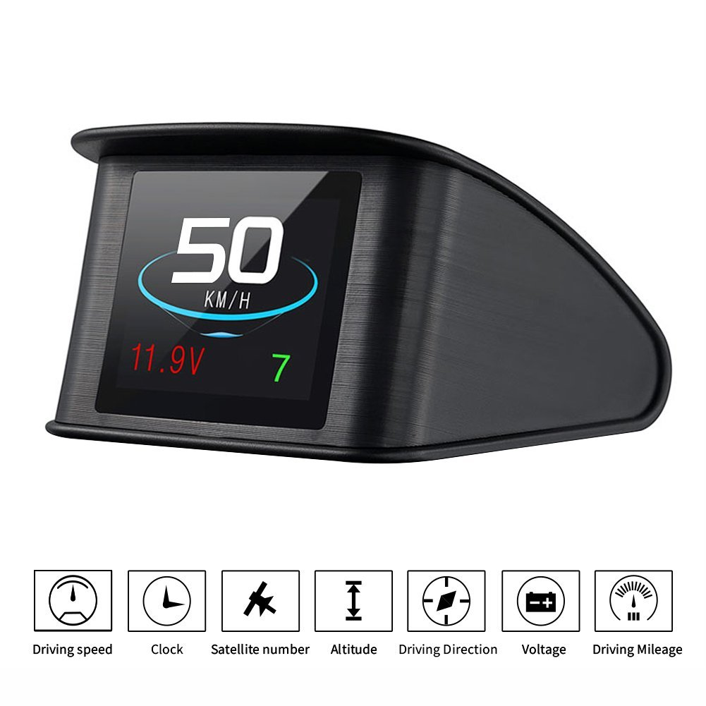 TIMPROVE T600 Universal Car HUD Head Up Display Digital GPS Speedometer with Speedup Test Brake Test Overspeed Alarm TFT LCD Display for All Vehicle