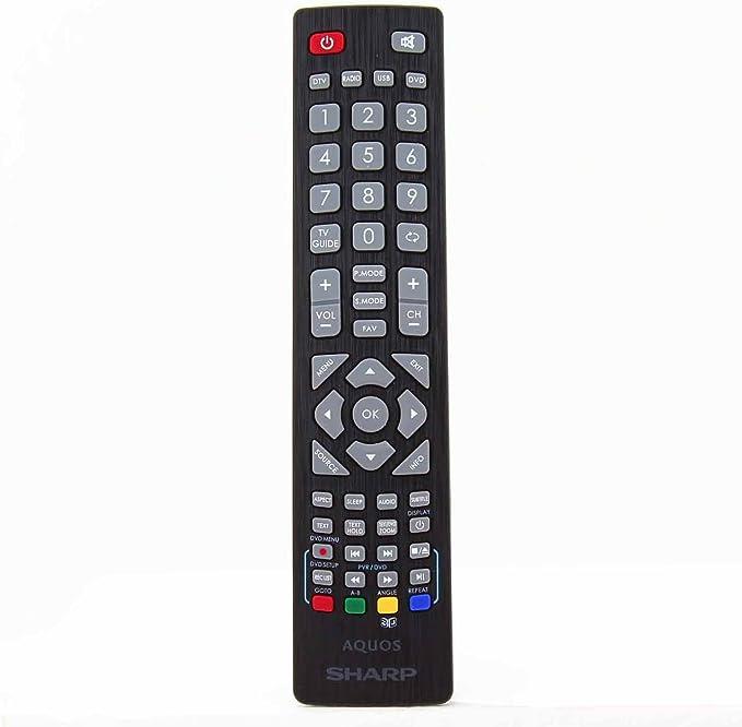 Sharp Aquos SHW/RMC/0103 Control Remoto Original para LCD LED 3D HD Smart TV con Botones 3D: Amazon.es: Electrónica