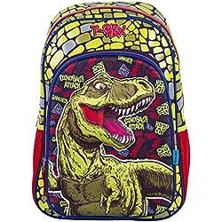 Mochila Escolar Primaria Juvenil Chenson Dinosaurio T-Rex 3D Para Niño