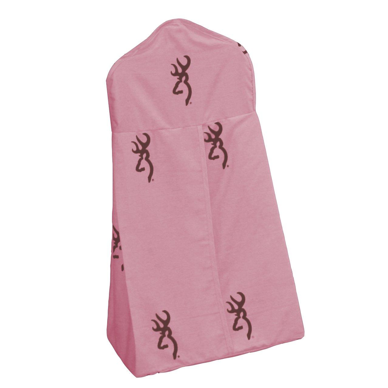 Pink Buckmark - 6 Piece Crib Set includes (Crib Fitted Sheet, Crib Bumper Pad, Crib Headboard Pad, Crib Comforter, Crib Bedskirt and Crib Diaper Stacker)- Save Big By Bundling!