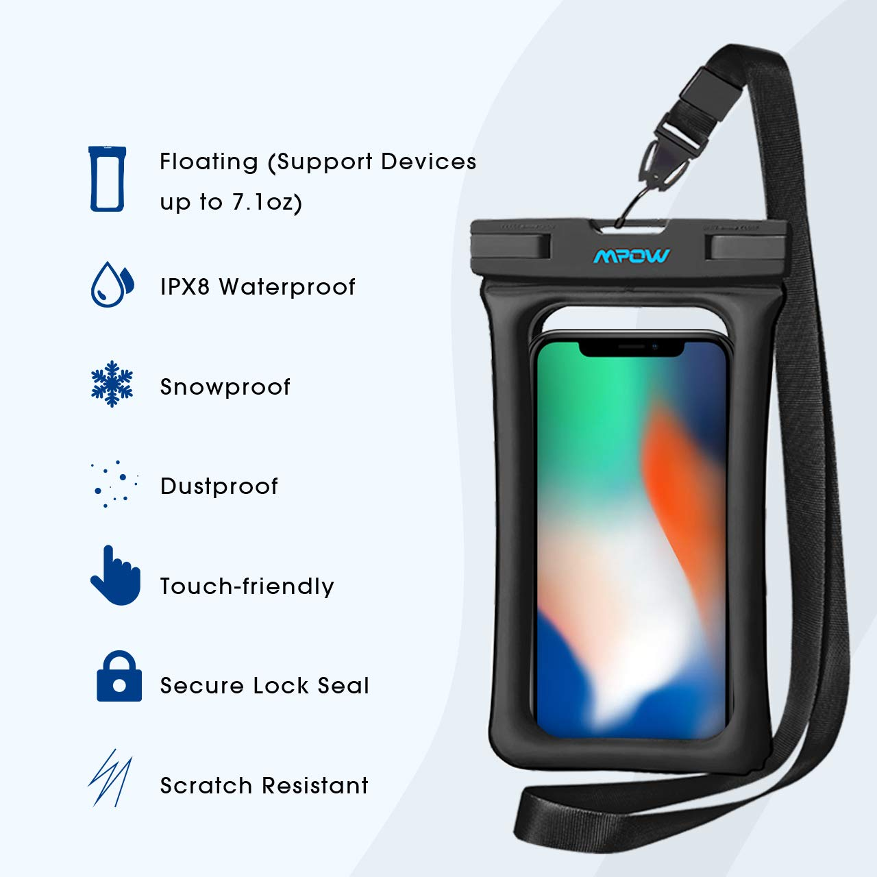 Amazon.com: Mpow Funda impermeable flotante para teléfono ...