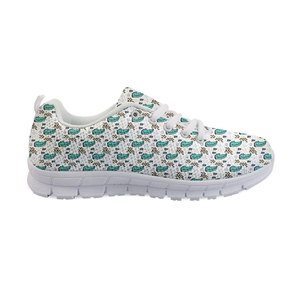 Owaheson Lace-up Sneaker Training Shoe Mens Womens Smiling American Alligator Crocodile