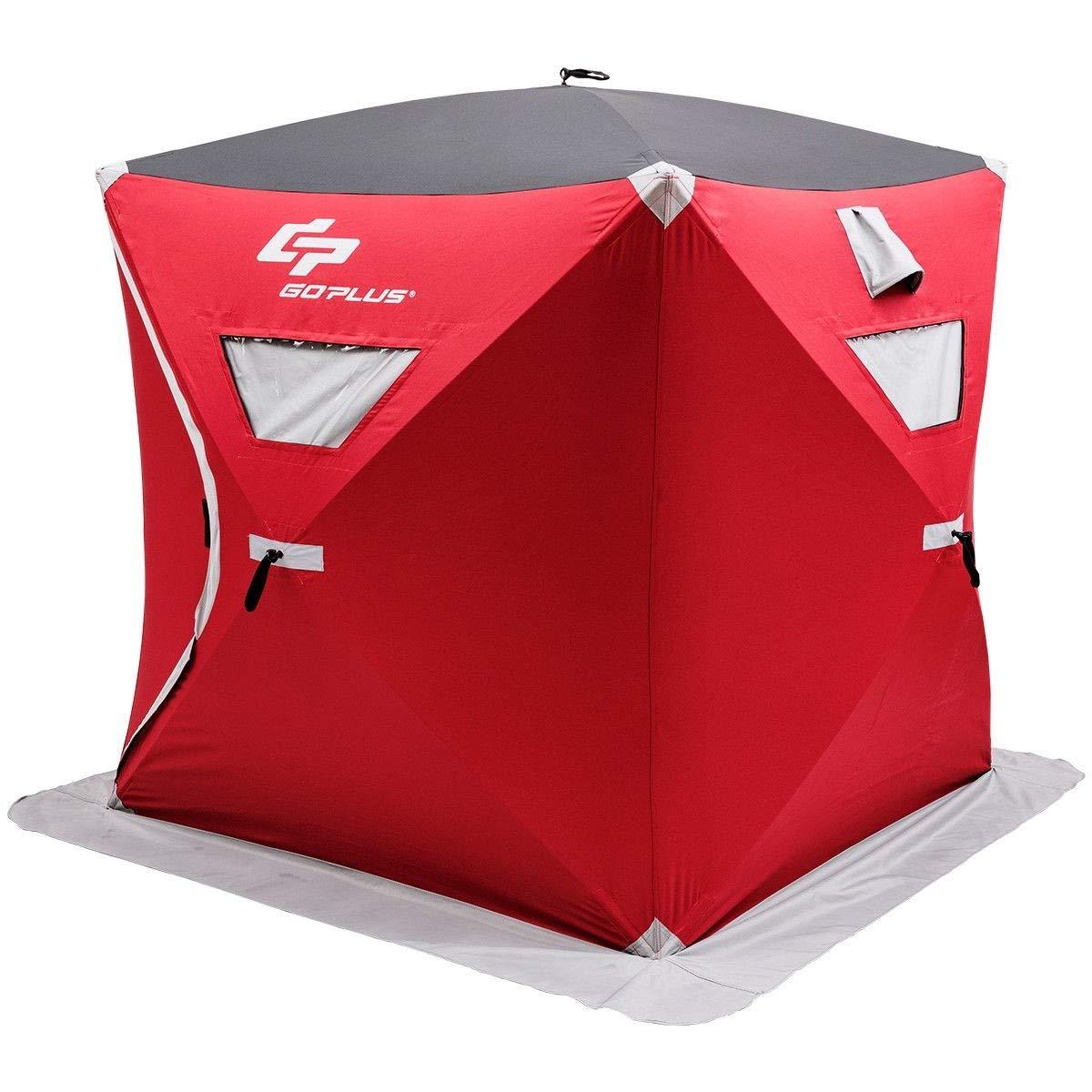 USA_BEST_SELLER 3人用 ポータブル ポップアップ 折りたたみ式 アイスシェルター フィッシングテント バッグ付き