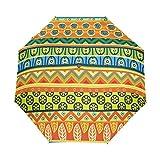 WIHVE Africa Art Colorful Umbrella Auto Open Close Windproof Compact