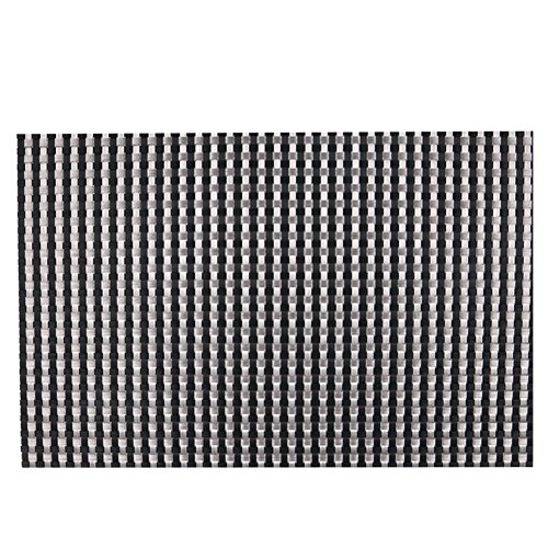 Diamondo 4pcs Placemat Heat Insulation PVC Plate Mat Cup Bowl Pads (7 Colors) (Black &Silver)