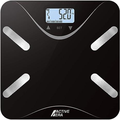 Active EraTM - Báscula de baño ultrafina para medir la grasa corporal. Analizador con%