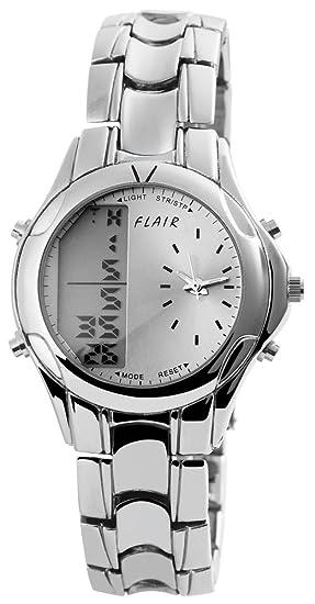 Flair Hombre Digital Reloj de pulsera con mecanismo de cuarzo 200423000150 y carcasa de metal con
