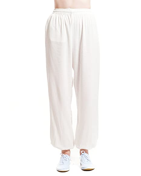 Amazon.com : ICNBUYS Womens Kung Fu Tai Chi Pants Silk ...