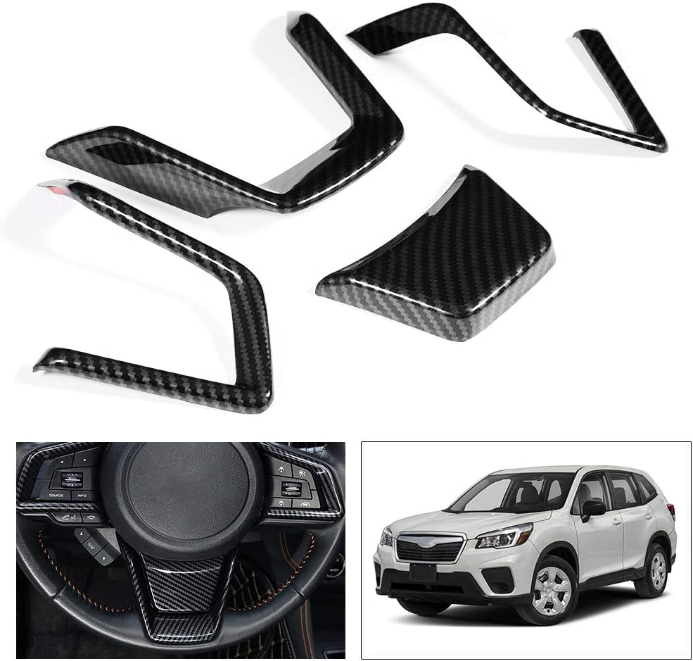 Acouto 4PCS Car Interior Steering Wheel Panel Cover Decoration Trim Sticker for Forester SK 2019
