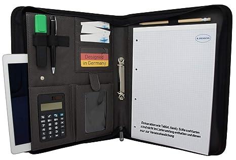 c6088c42ec Cartella Portadocumenti A4 ad Anelli con Block Notes e Calcolatrice |  Organizzatore Personale in Ecopelle