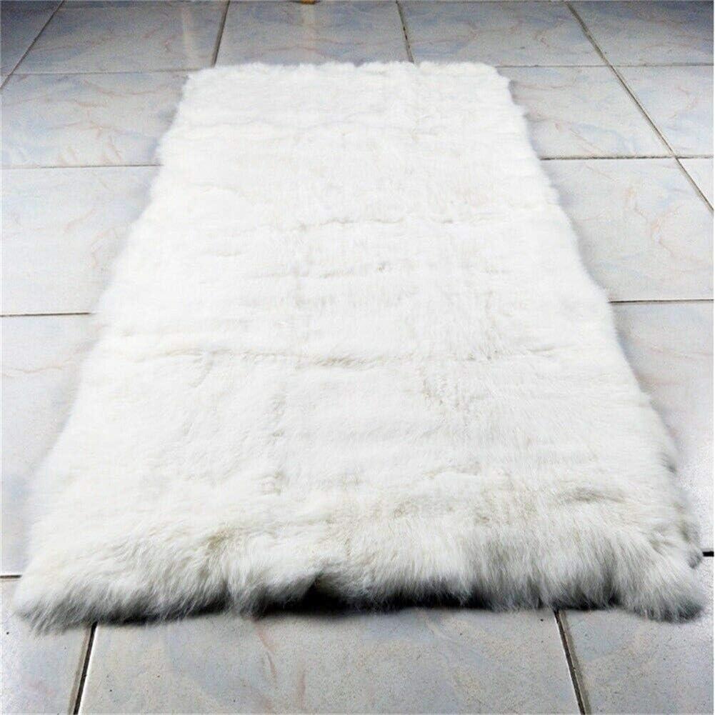Details about  /Luxury 100/% Real Rex Rabbit Fur Throw Warm Soft Bedspread Blanket Sofa 22X42/'/'
