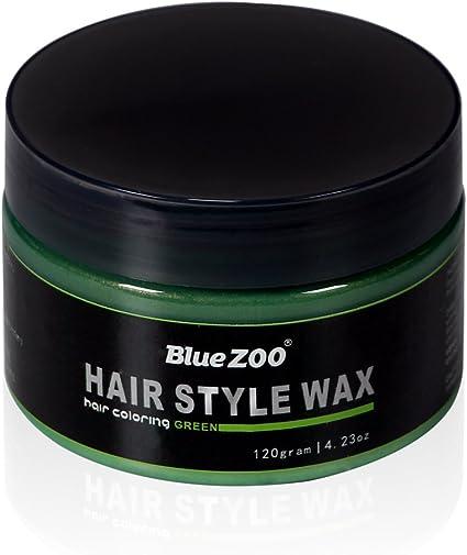 BlueZOO® - Cera de tinte temporal lavable con estilo crema barro natural de pelo color pomada moldeado una vez para fiesta, cosplay, mascarada
