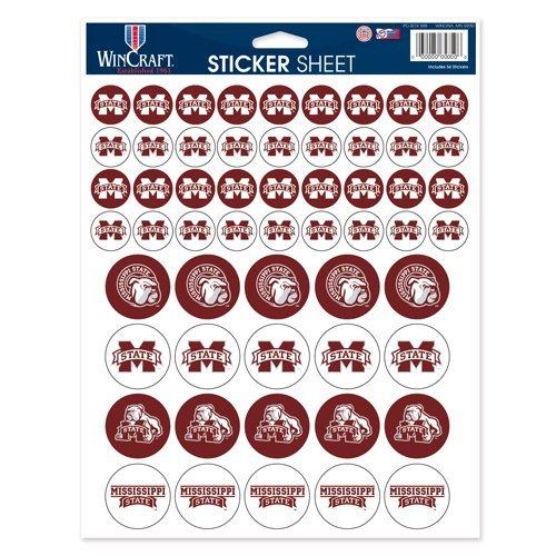 WinCraft NCAA Mississippi State University Vinyl Sticker Sheet, 8.5