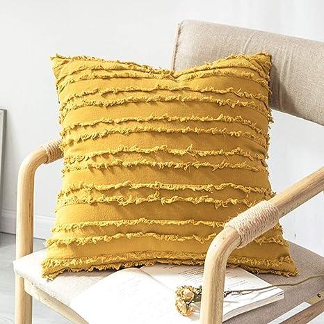 LWWOZL Almohada Creativa, cojín Cuadrado de algodón, sofá ...
