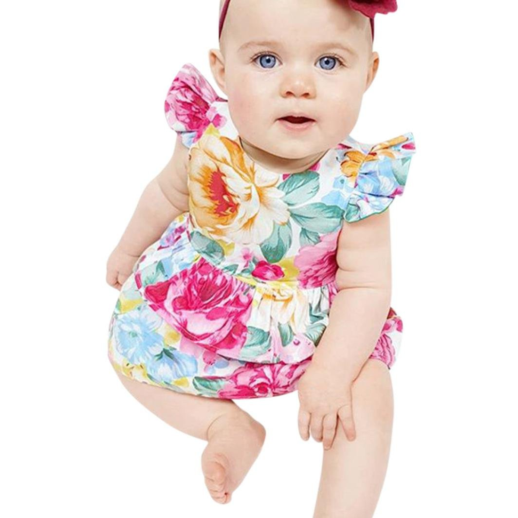 Amazon.com: ShiTou Sleeveless Floral Printing Party Outfits Summer Infant Cactus Romper (Multicolor, 80): Clothing