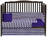 Plum Bedding and Curtain Sets Baby Doll Bedding Chevron 4 Piece Crib Bedding Set, Plum