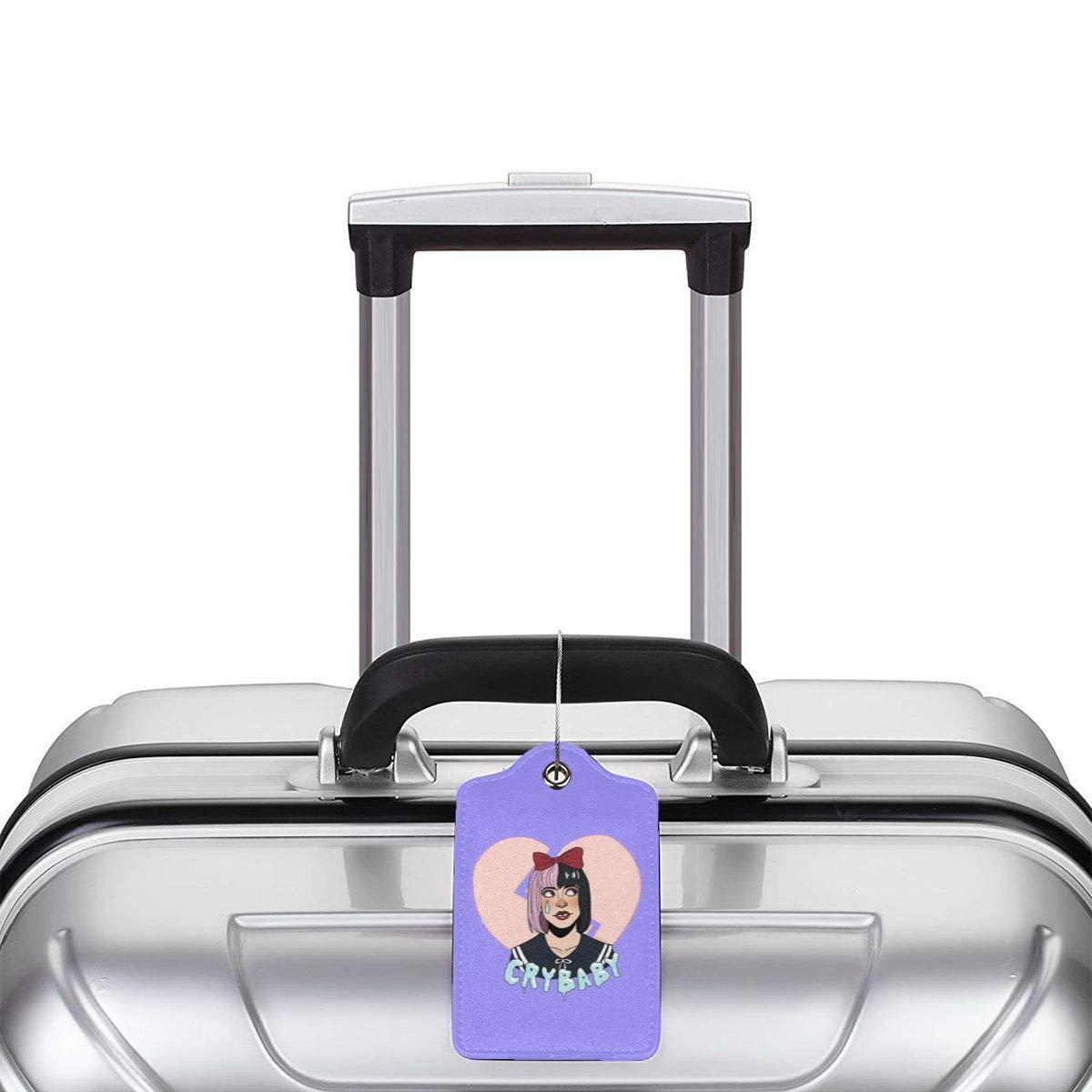 LIKUNMING Melanie Martinez Travel Luggage Tags Travel Suitcase Bag Labels Checked Baggage Tags