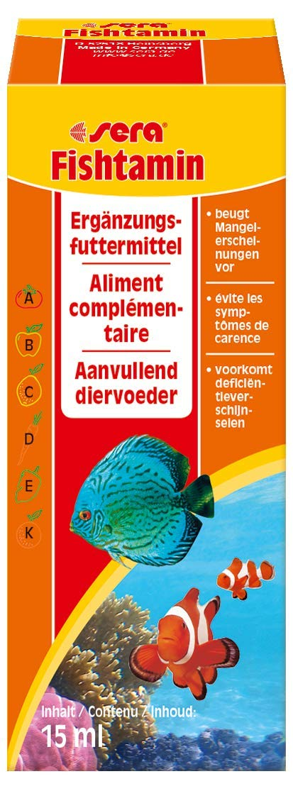 Amazon.com : Sera 2710 fishtamin 0.5 fl.oz. 15 ml Pet Food, One Size : Pet Supplies