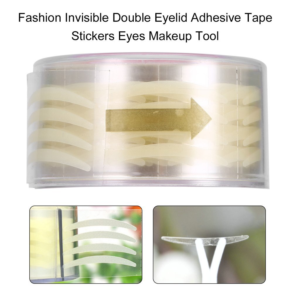 Naisidier Fashion Invisible Double Eyelid Adhesive Tape Stickers Eyes Makeup Tool Health Beauty