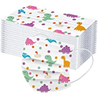 Children 3-Ply Dinosaur Pattern Face Bandanas for Kids, Outdoor Activities, Dust-Proof, Facial Protective 50Pcs