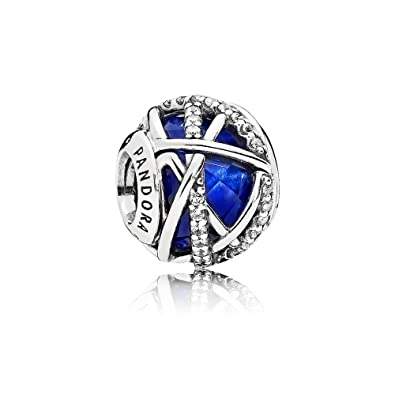 f1538e824 PANDORA Galaxy Charm Royal Blue Crystal & Clear Cubic Zirconia; A Universe  of Possibility;