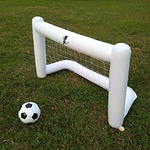 Hiplle White Inflatable Soccer, Net Environmental Friendly PVC Belt Net, Inflatable Soccer Goal for Adults and Children(160cm)