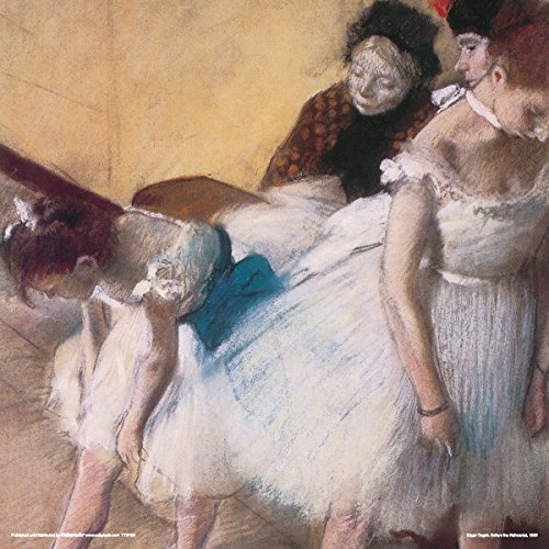 Edgar Degas Before the Rehearsal Ballet Dancers Ballerinas Decorative Fine Impressionist Art Print (Unframed 12x12 Poster)
