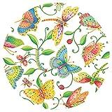 Caspari Entertaining with Parvenu's Garden Salad/Dessert Plates, Multicolor, 8-Pack