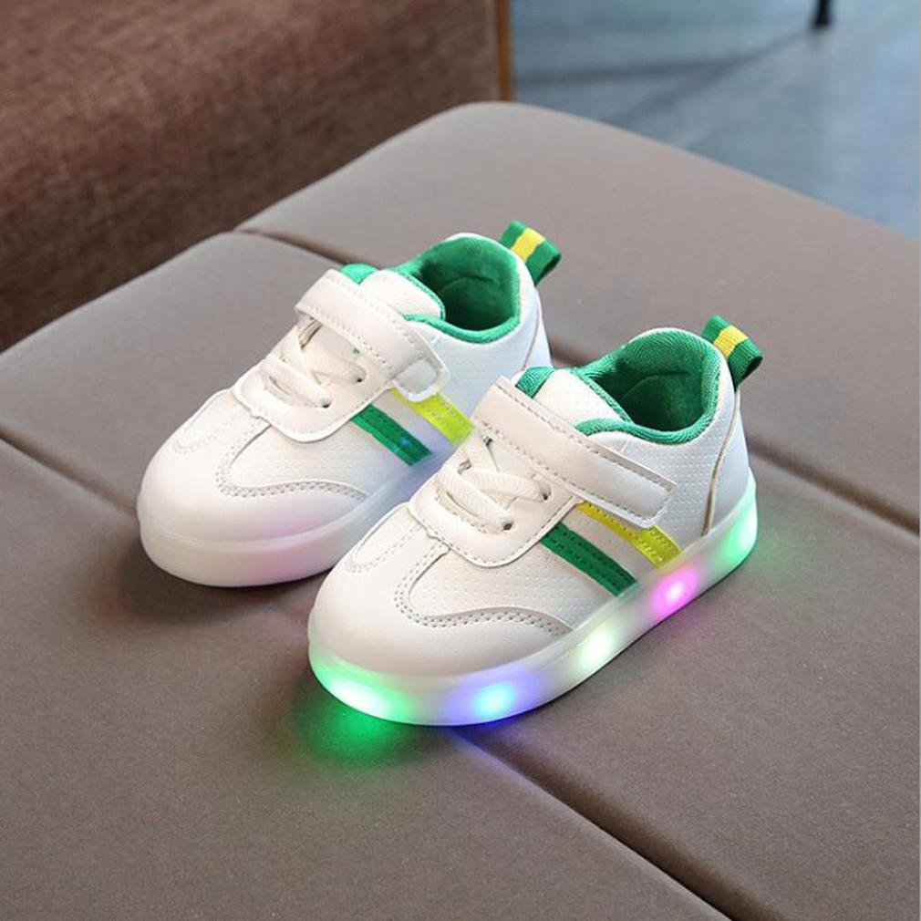 Baby Toddler Fashion LED Luminous Stripes Sport Running Shoes Kids Girls School Sneakers Gifts SHOBDW Boys Shoes