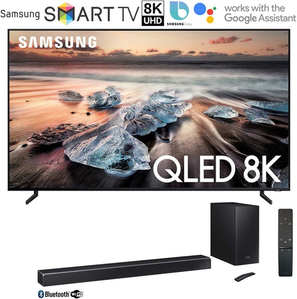 Samsung QN75Q900RB Q900 QLED Smart 8K UHD TV (2019 Modelo) Bundle 370 W sistema de barra de sonido virtual de 5.1.2 canales con subwoofer inalámbrico con ahorro instantáneo de $300: Amazon.es: Electrónica