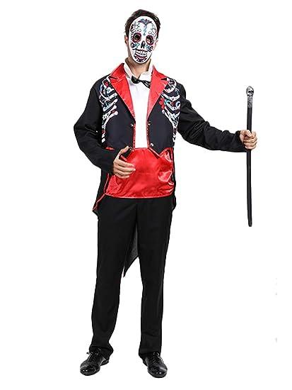 YONIER Disfraz para Adultos Día de Muertos Señor Bones ...