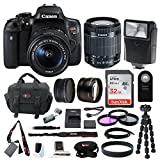 : Canon EOS Rebel T6i Digital Camera: 24 Megapixel 1080p HD Video Wifi Enabled DSLR Bundle With Wide Angle 18-55mm Lens 32GB SD Card Mini Tripod & Filters - Professional Vlogging Sports & Action Cameras