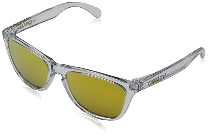 4e1adec9a6 Oakley Men s Mirrored Frogskin OO9013-A4 Clear Oval Sunglasses ...