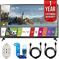 LG 43-Inch UHD 4K HDR Smart LED TV - 43UJ6300 (2017 Model) with 1 Year Extended Warranty + Accessories Bundle