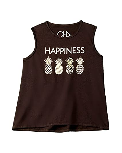 e47ed7949b4d14 Chaser Kids Baby Girl s Vintage Jersey Happiness Tank Top (Toddler Little  Kids) Union