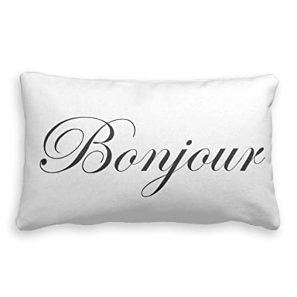 Amazoncom Pillow Case Covers Bonjour Good Day In French Pillow