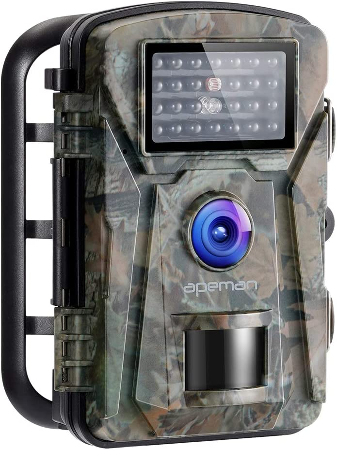 APEMAN Trail Camera 12MP 1080P No-Glow Infrared Night Vision Hunting Camera for Wildlife Monitoring, Garden, Home Security Surveillance