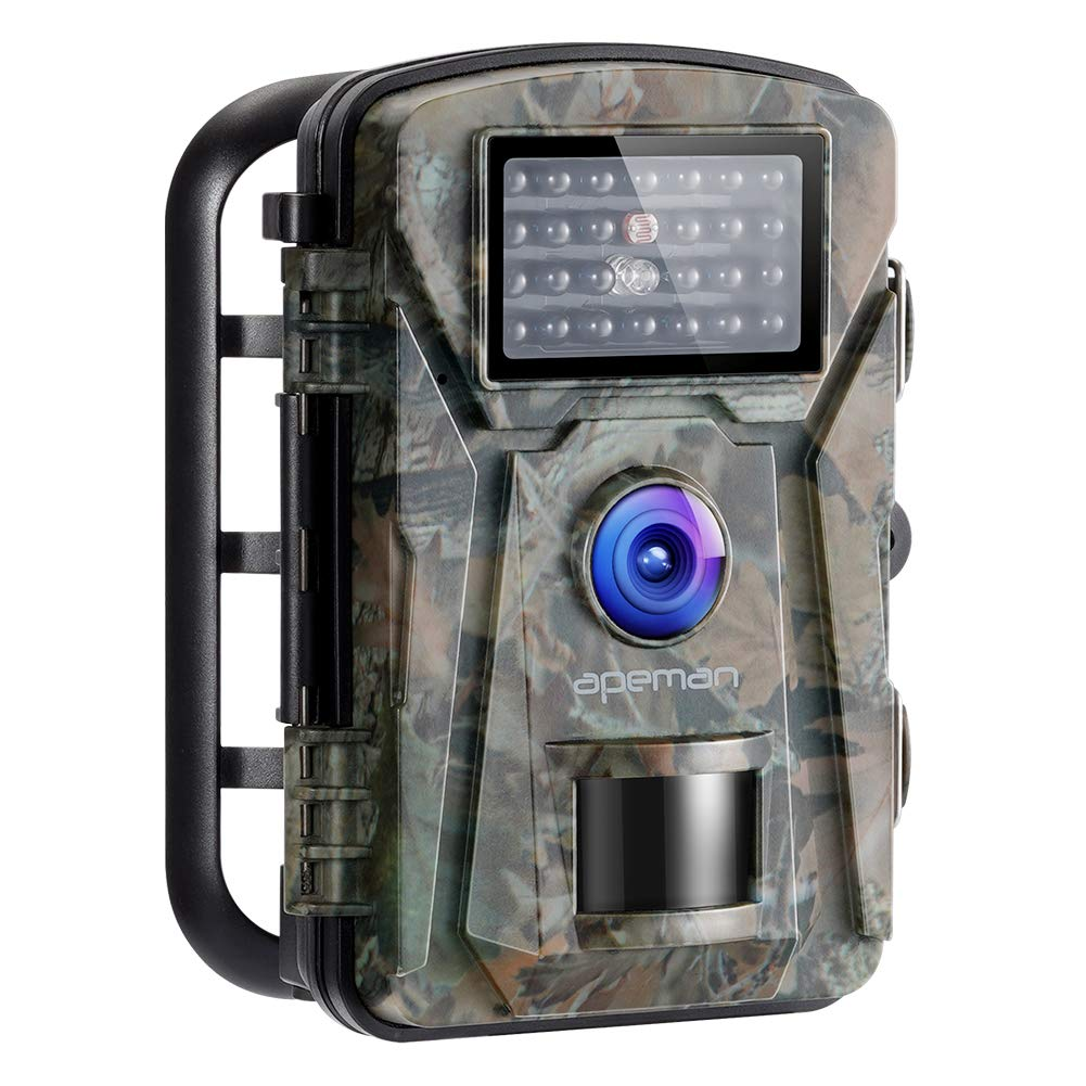 APEMAN Trail Camera 12MP 1080P No-Glow Infrared Night Vision Hunting Camera for Wildlife Monitoring, Garden, Home Security Surveillance by APEMAN