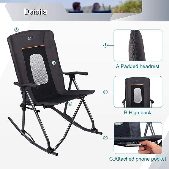 Amazon.com: Portall - Silla plegable de gran tamaño para ...