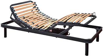 SUENOSZZZ- Somier electrico articulado.Doble Mod Confort. Cama de 180 x 190 Partida. Incluye Patas y Kit unión. Metalica.