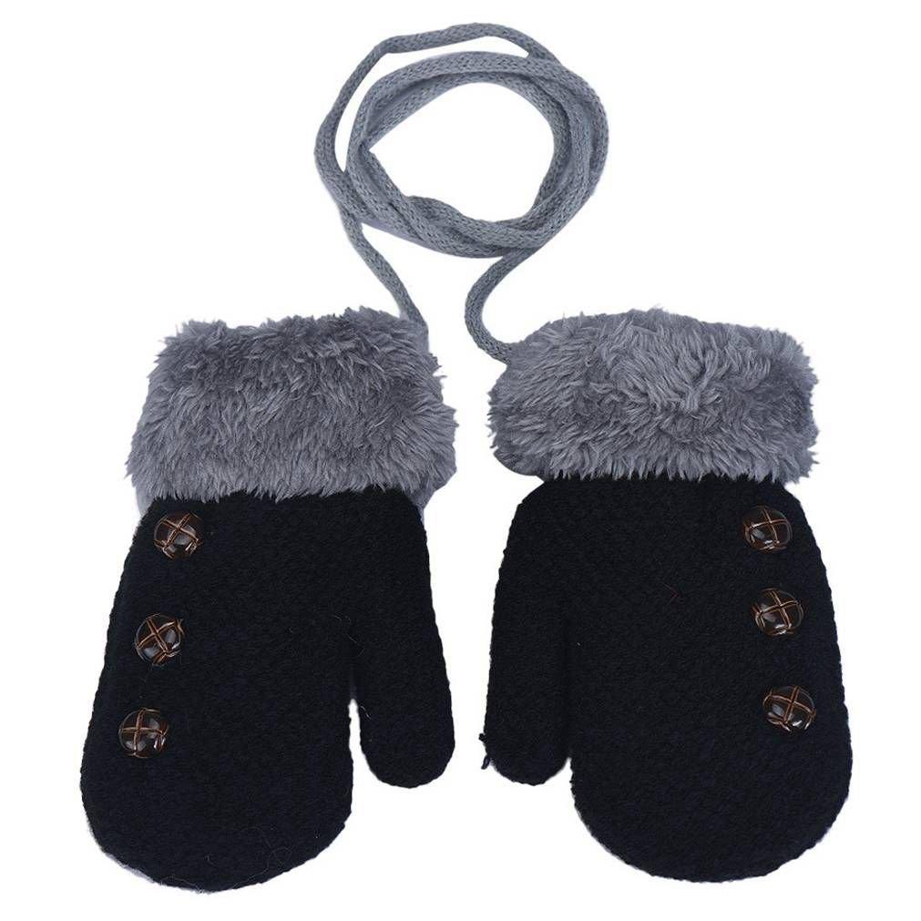SAMGU Guanti per bambini Autunno Inverno per bambini caldi delle ragazze dei ragazzi Mittens colore Nero ITYPGLOVES16112402