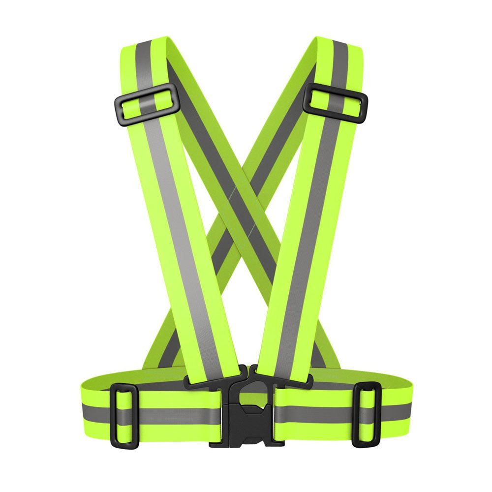 Fadirew Verstellbarer, reflektierender Gurt für den Oberkörper, Laufbekleidung, Sicherheitsschärpe, Taillengürtel Streifen, Jacke, Hohe Sichtbarkeit Arbeitskleidung