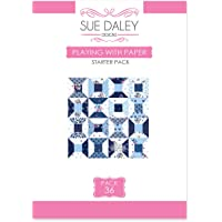 Sue Daley Designs Playing with Paper Starter Pack 36 Pattern Templates and Papers EPP English Paper Piecing Patchwork Sewing