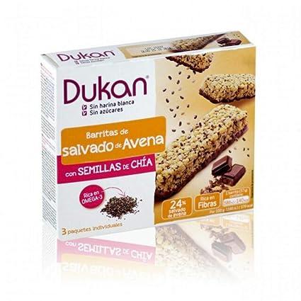 Barras de avena Dukan En Bran DAi Chia Seeds 3 Piezas ...