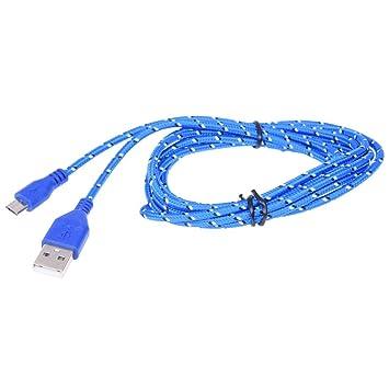 Cikuso 2M Cable de Tela Trenzada Mini USB Cable de Datos y ...