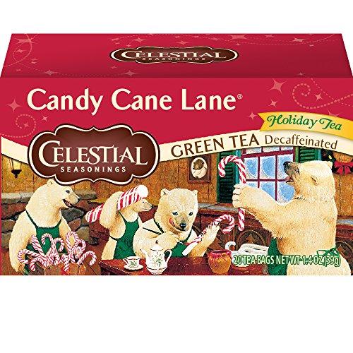 Celestial Seasonings Green Tea, Candy Cane Lane Decaf, 20 Count (Pack of 6) by Celestial Seasonings