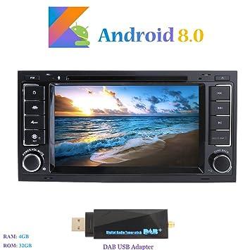 """Android 8.0 Autoradio, Hi-azul 2 DIN Radio de Coche 7"""" Navegación GPS"""