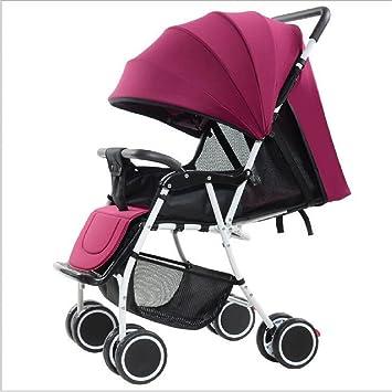 DLDL Carro de bebé Plegable de Cuatro Ruedas del Asiento ...